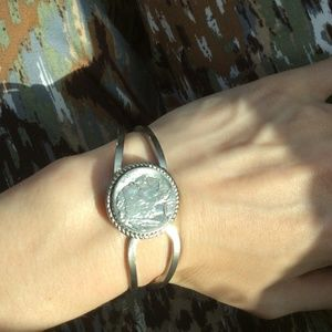 Vintage Jewelry - Buffalo Nickel Cuff Bracelet